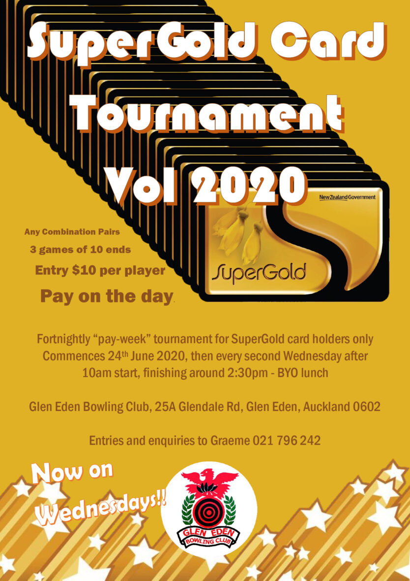 Poster for the SuperGold Tornament